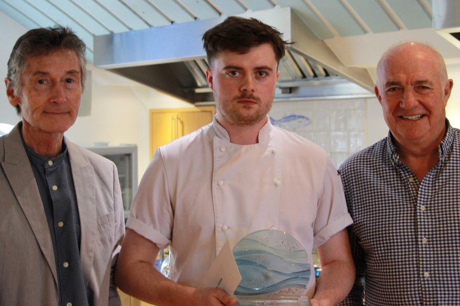 Roger Puffet left joins Rick Stein to present Henry with his award 2 900x600 - RICK STEIN JOINS APPRENTICESHIP WEEK CELEBRATIONS